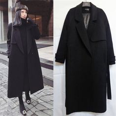 Spring Autumn Winter New Women's Casual Wool Blend Trench Coat Oversize Long Coat with belt Women Wool Coat Cashmere Outerwear-in Wool & Blends from Women's Clothing on AliExpress Winter Jackets Women, Coats For Women, Clothes For Women, Plus Size Outerwear, Outerwear Women, Winter Trench Coat, Autumn Coat, Long Winter Coats, Langer Mantel