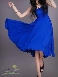 baile en verano/mujeres vestido/lino/largo/flujo/5 colores