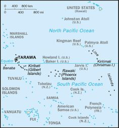 Country Maps: Kiribati Map