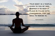 Your body is a temple...