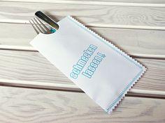 bestecktasche aus Papier genäht Anleitung