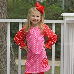 1/22/2013  Pink & Red Polkadot Heart Debbie Dress
