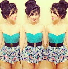 Cute blue floral dress
