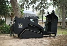Built off of a Cat 287C MTL, the Rook is a tactical vehicle used by SWAT teams.