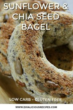 Fancy a couple of low carb bagels for the weekend breakfast? Try this low carb sunflower and chia seed bagel recipe.