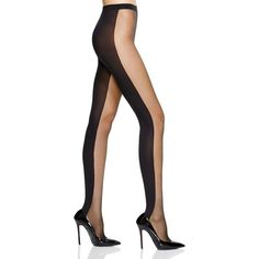 Wolford Abigail Tights (€58) ❤ liked on Polyvore featuring intimates, hosiery, tights, black, transparent tights, black hosiery, opaque stockings, wolford hosiery and sheer black tights