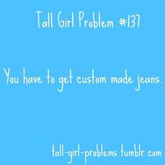 tall girl problem #137