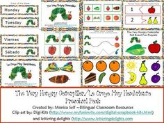Printable Cards for La oruga muy hambrienta (The Very Hungry ...