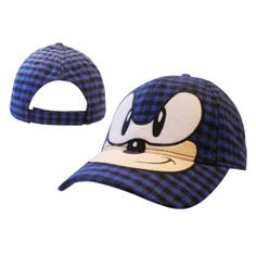 Keps Sega - Sonic Green Hill Zone. Sonic the Hedgehog chequered adjustable baseball  cap 2ae1adf31890
