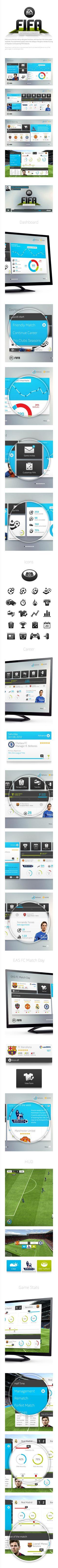 Fifa interface concept - Rodrigo Bellão