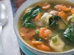 Get Tortellini Soup Recipe from Food Network