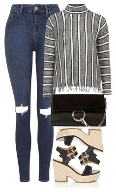 """""""Untitled #530"""" by iamsamball on Polyvore featuring Topshop, Miss Selfridge and Chloé"""
