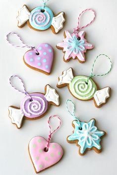This just uses normal gingerbread and royal icing - claiming they can still last several years.....   Sweet Gingerbread Garland » Glorious Treats