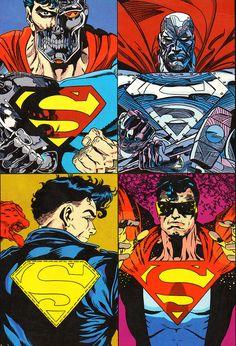 The 4 supermen after Doomsday killed Superm an: Cyborg, Steel, Superboy, Eradicator