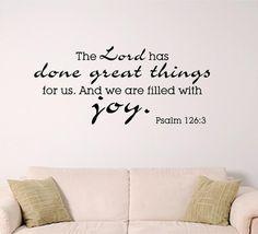 bible verse wall art Joy by SignGuysAndGal on Etsy,