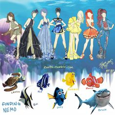 Finding Nemo Fashion by Ellphie.deviantart.com on @deviantART