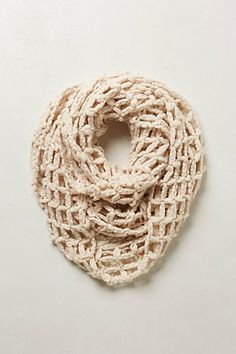 Open Weave Infinity Scarf