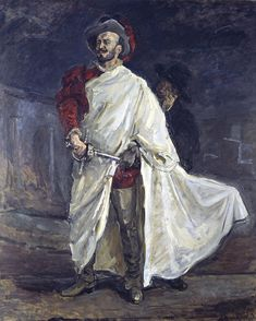 Max Slevogt - Der Sänger Francisco d'Andrade als Don Giovanni in Mozarts Oper (1912)