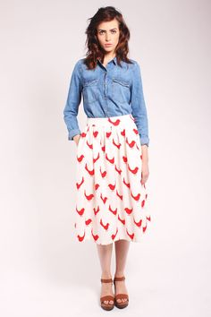Chick Midi Skirt  http://www.foxandfeather.co.uk/collections/new-in/products/one-o-eight-chick-midi-skirt