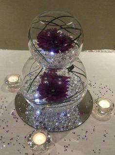 Fish bowls Available as a single bowl or stacking double. Price includes decoration. Single hire price - £5.00 Double Hire price - £10.00