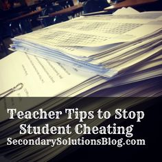 I've been writing a short series about the 10 most surprising difficulties I face as a teacher and today I want to tackle my struggle with student cheating.  I've tried my best to get away from hom...