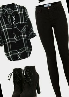 #Bob #Hairstyles #outfits #casual #women Cute Teen Dresses 23+ Casual Outfits For Women | Bob Hairstyles For Thick | 2020 Dressy Fall Outfits, Cute Flannel Outfits, Flannel Fashion, Flannel Shirt, Cute Dresses For Teens, Teen Dresses, New Look Jeans, Black And White Flannel, 17 Black