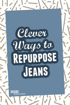 Check out these clever and thrifty Repurposed Jeans Projects. The list included over 26+ DIY Ideas for repurposing jeans and denim. Recycling Bins, Repurposing, Frugal, Diy Ideas, Clever, Diy Projects, Denim, Jeans, Check