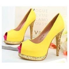Yellow/Gold/Pink | dream shoes. | #CupcakeDreamWedding
