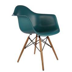 เก้าอี้ Eames DAW Chair Navy Green เก้าอี้ Eames DAW สีเขียวพร้อมที่วางแขน เป็นเก้าอี้ดีไซต์ที่สวยงามหลากหลายสีสัน วัสดุนั่งทำจาก PP เกรดพรีเมี่ยม และ ขาทำจากไม้ Beech อย่างดี แข็งแรงและทนทาน