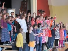 Grade 3 and 4 perform at Tamarack's Spring Assembly. 2014-15