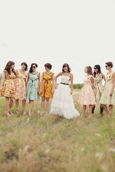 Cutest vintage bridesmaids dresses