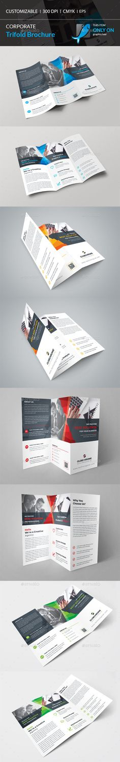 Square Trifold Brochure  Brochures Corporate Brochure And
