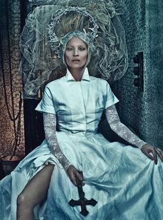 "Kate Moss in ""Good Kate, Bad Kate"" by Steven Klein, W magazine, March 2012"