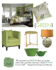Green accents....my new kitchen and living area each have celery green accents, looks so pretty!