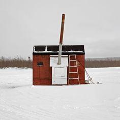 Ice Fishing Hut Photos by Richard Johnson