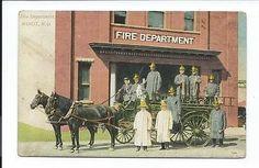 Postcard Post Card Minot North Dakota ND N D Fire Department | eBay