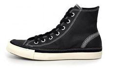Baggins Shoes : Converse Shoes : Mens, CT WAXED CANVAS HI BLACK : Buy Online