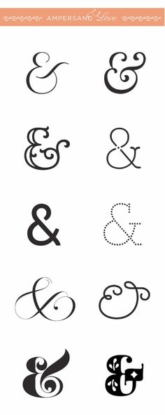 ampersand. Where was this five days ago, Tina?!