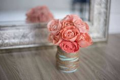 Louisiana Bloom Tin Can - Eco Flower (Strawberry lemonade scent)