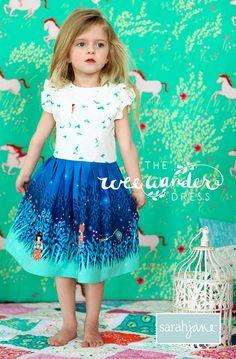 Free Girls Dress Pattern: Wee Wander Dress - My Handmade Space, Diy Abschnitt, Kids Patterns, Sewing Patterns Free, Free Sewing, Free Pattern, Cute Girl Dresses, Little Girl Dresses, Pretty Dresses, Sewing Kids Clothes, Sewing For Kids