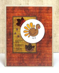 Thanksgiving Card Happy Turkey Day Thanksgiving by doodleshop