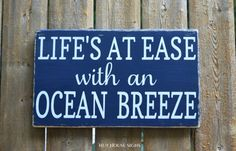 Beach Sign Beach Decor Nautical Gift Rustic Wood Signs Shore Life At Ease Ocean Breeze Fun Summer Quote Sayings Coastal Wooden Plaque House Beach Signs Wooden, Rustic Wood Signs, Beachy Signs, Beach House Signs, Home Signs, Porch Signs, Fun Summer Quotes, Summer Sayings, Breeze Quotes