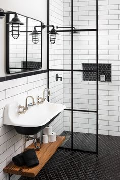 Ideas Ideas apartment Ideas diy Ideas hamptons Ideas master Ideas modern Ideas on a budget Ideas small Bathroom Ideas Bathroom Ideas Farmhouse Bathroom Lighting Ideas That'll Make You Want to Move to the Countryside Basement Bathroom, Bathroom Flooring, Small Bathroom, Bathroom With Double Sink, Tiny Bathrooms, Ikea Bathroom, Tiny House Bathroom, Luxury Bathrooms, Master Bathrooms