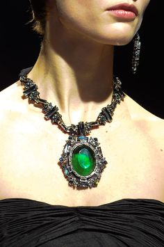 Lanvin created this emerald necklace that is to die for.