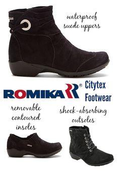 Romika Citytex Footwear: Waterproof, Orthotic-Friendly.