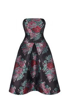 Anushka Dress bold roses pink