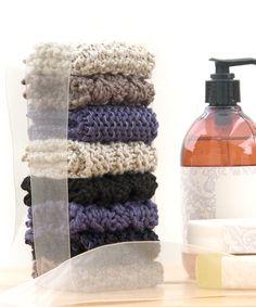 Free Knitting Pattern: Washcloth Quartet