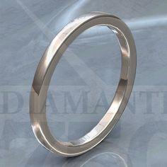argolla de matrimonio plana de 2mm