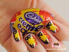 #creme #egg #nails #nailart #easter