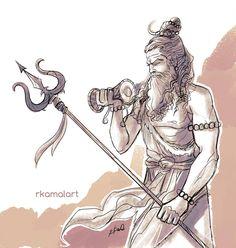 Its Mahamahim Bhishma, son of goddess ganga for today's Inktober 2017 Bhishma Mahakal Shiva, Shiva Art, Krishna Art, Hindu Art, Aghori Shiva, Rudra Shiva, Lord Shiva Sketch, Om Art, Shiva Tattoo